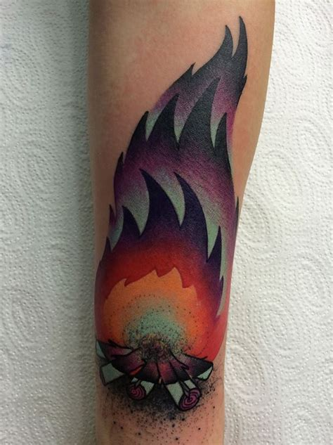 bonfire tattoo 19 forearm tree tattoos