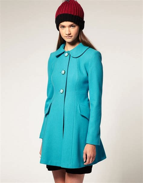 A Line Coat asos asos a line coat with buttons