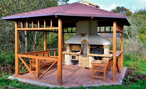 grill pavillon holz 32 wooden gazebos that provide rich design and comfortable