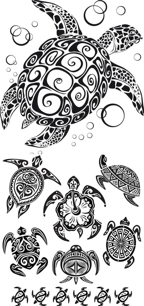 tribal sea turtle tattoos tribal vector graphics
