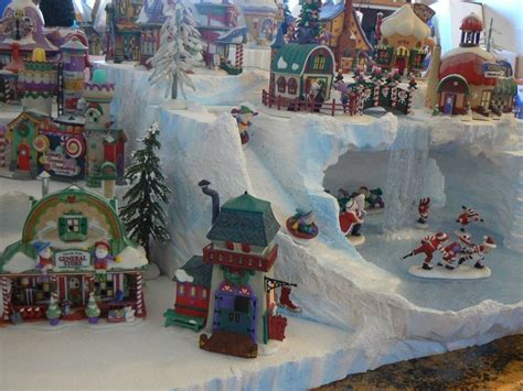 minuiture christmas towns custom miniature display platform grandmothers villages and caves