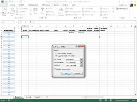 tutorial excel advanced filter vba advanced filter filter any excel database 2013 use