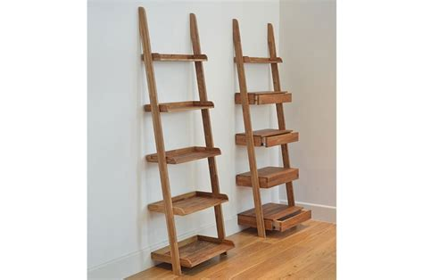 49 ladder bookcase oak narrow oak ladder shelf