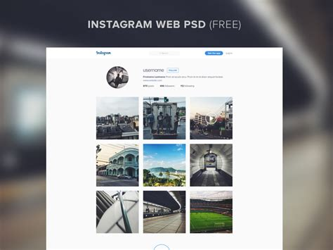 instagram design psd instagram website template psd free psds sketch app