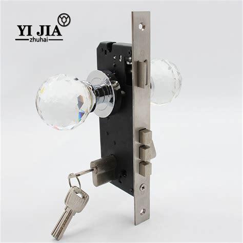 interior glass door knobs with locks yijia