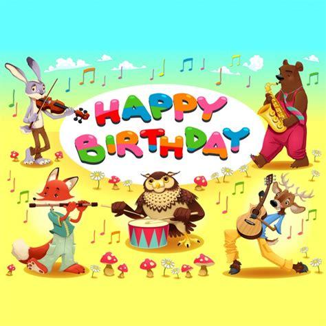 clipart gratis compleanno scheda di buon compleanno con gli animali musicista