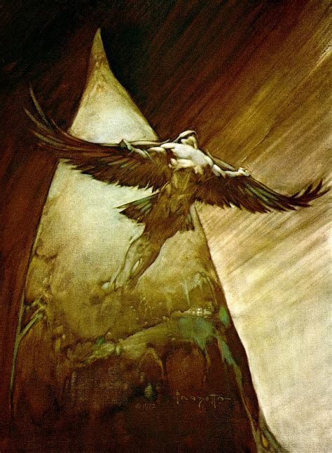 flying with one wing god s grace in our times of adversity books paintings of the day frank frazetta the velvet rocket