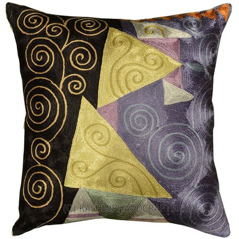 Toss Pillow Cover by Klimt Black Blue Tree Throw Pillow Cover