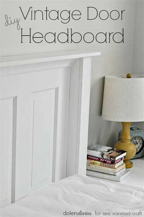 Diy Door Headboard Diy Vintage Door Headboard See Craft