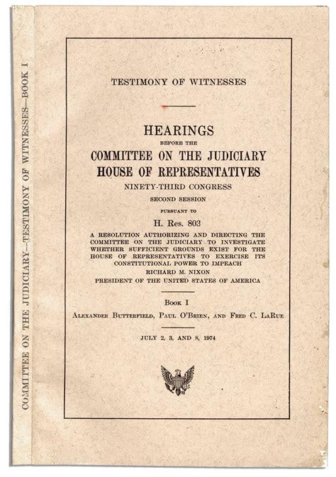 the for impeachment books lot detail richard nixon impeachment book set 25