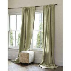 green linen drapes green on pinterest