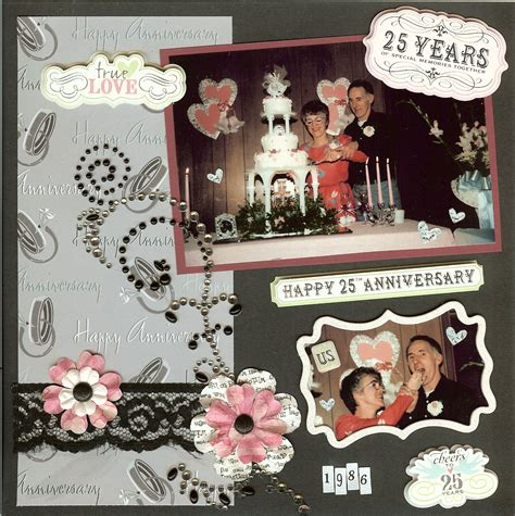 Wedding Anniversary Scrapbook Ideas by 25th Wedding Anniversary Scrapbook Scrapbooking