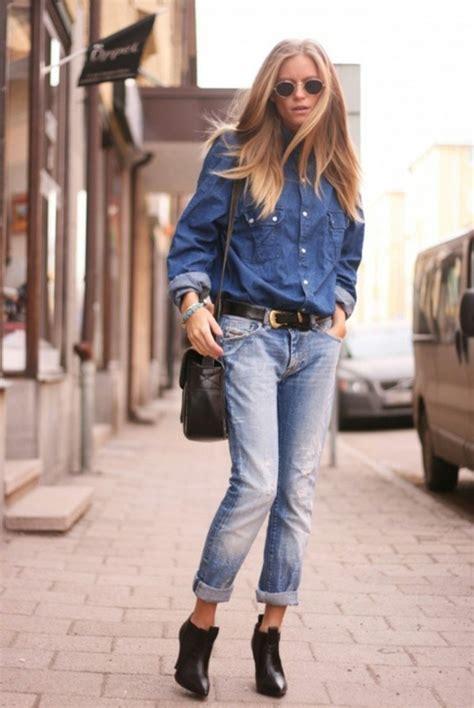 Wanita Boyfriend Vision Vision Boyfriend 8253 1001 id 233 es avec quoi porter une chemise en jean