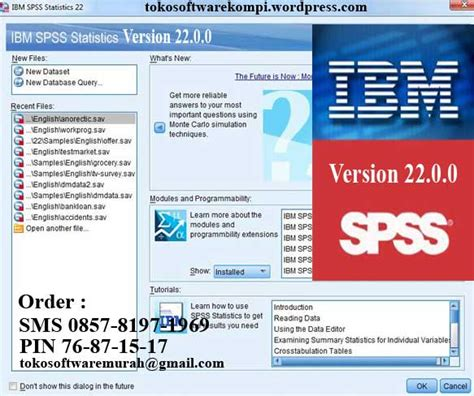tutorial spss version 22 march 2014 toko software murah dan berkualitas