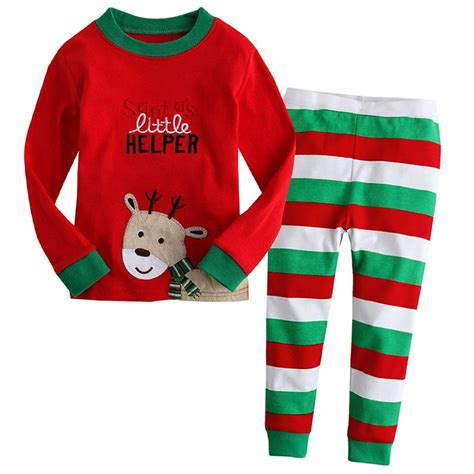 2015 children kids christmas pajamas set baby boys girls