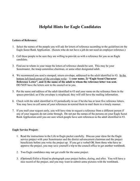 Character Reference Letter Eagle Scout Format Of Noc Letter Best Template Collection