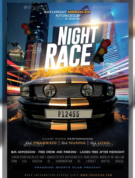 23 Racing Flyer Designs Psd Vector Eps Jpg Download Freecreatives Free Race Flyer Template