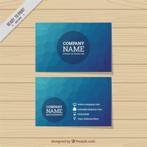 Premium Abstrac abstrac business card in blue color vector premium