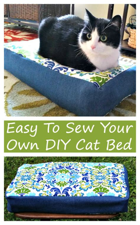 cat bed diy how to sew your own easy to make diy cat bed kicking it