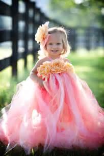 Cheap Flowers Houston - coral peach custom dreams fancy little girls long tutu dress