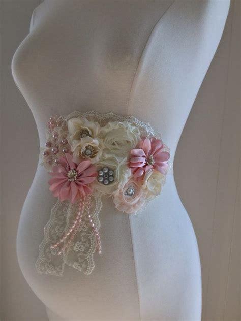 How To Make A Baby Shower Sash gorgeous vintage blush pink ivory maternity sash bridal sash baby shower gift maternity photo