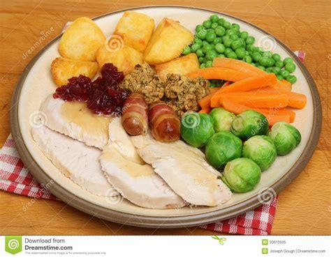 vegetables dinner dinner of roast turkey stock image image 33610505