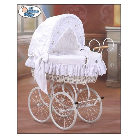 Crib Moses Basket by Wicker Crib Moses Basket Vintage Retro White