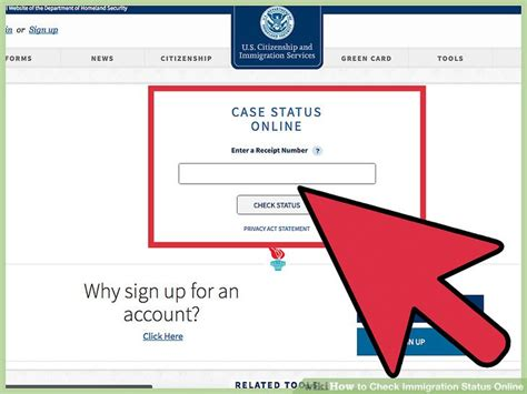 Uscis My Status Search Page 3 Ways To Check Immigration Status Wikihow