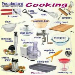 cooking vocab kitchen vocabulary