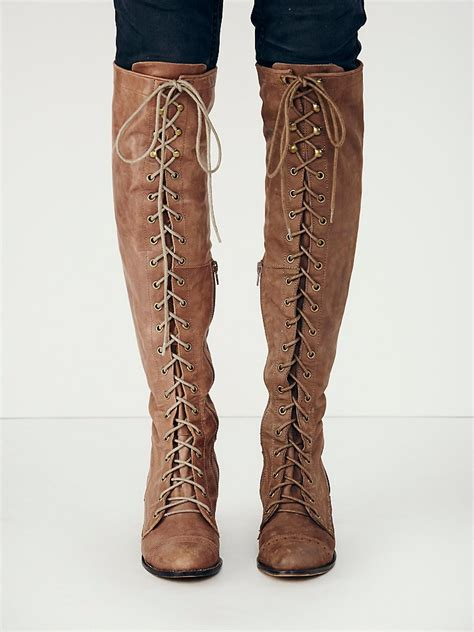 lace up boot free joe lace up boot in lyst
