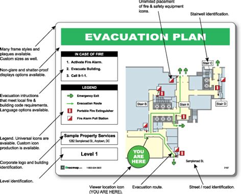 Evacdisplays How To Create A Emergency Evacuation Map Building Evacuation Map Template