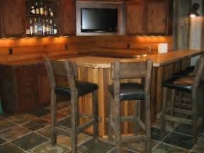 rustic bar ideas for basement bar styed as pub rustic basement cleveland by