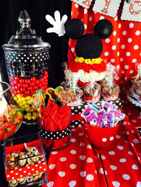 Mickey Mouse Table Decorations by Mickey Mouse Birthday Theme Buffet I