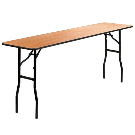 18 x 24 folding table 18 x 72 rectangular wood folding seminar