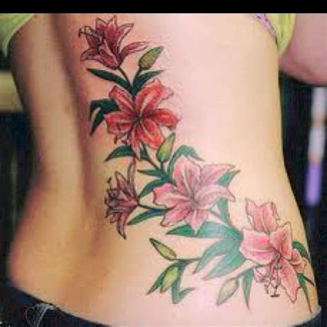 tattoo flower for may lilies month of may flower tattoos pinterest