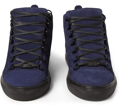 blue suede balenciaga sneakers usher wears pyer moss odyssey hooded jacket and balenciaga