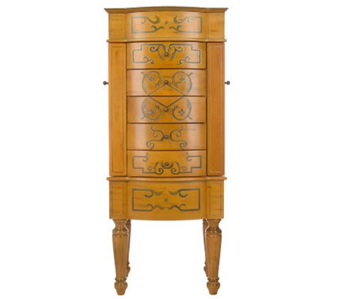thomas pacconi jewelry armoire thomas pacconi handpainted floral anti tarnish jewelry
