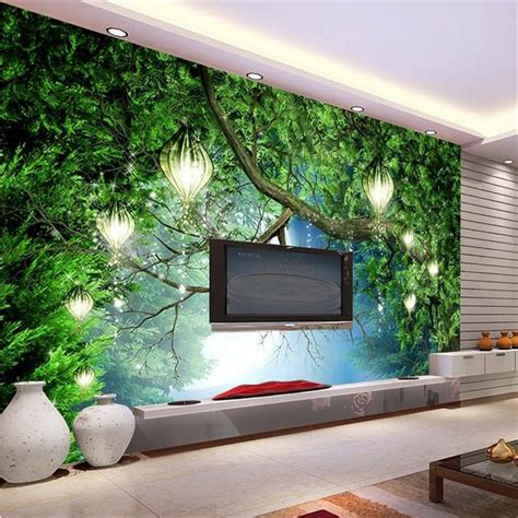 3d wall mural aliexpress buy 3d wall murals wallpaper hd forest backdrop murals tv backdrop