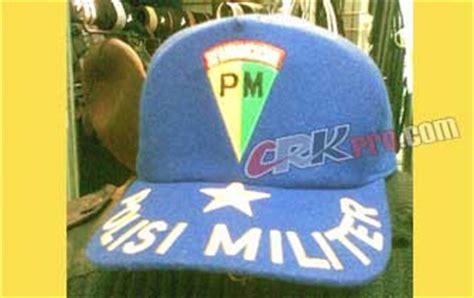Termurah Topi Laken Hitam Bordir Padi Kapas jual topi militer rimba polisi laken