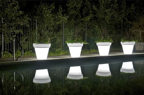 glow in the painted planters glow in the flower pots modern home exteriors