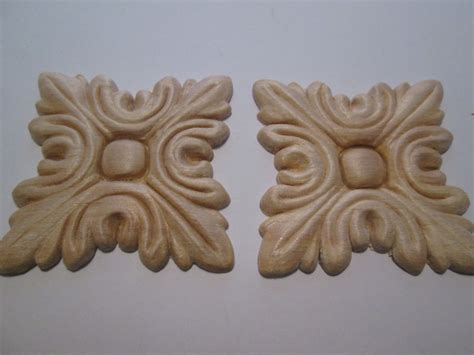 decorative wooden appliques sanded and sealed