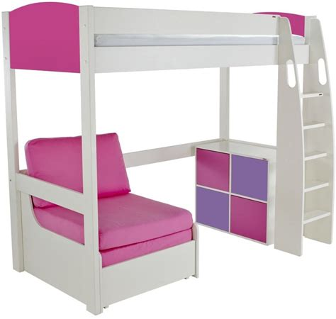 Stompa High Sleeper by Buy Stompa Pink High Sleeper Including Pink Chair Bed And