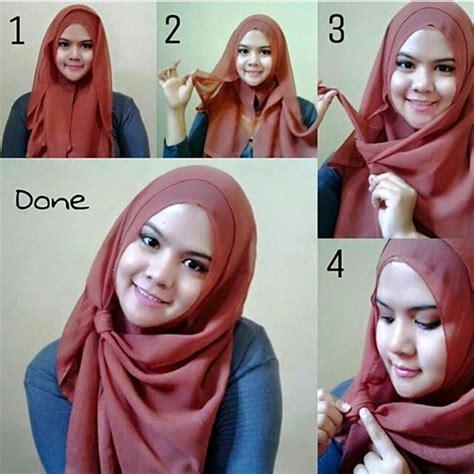 tutorial hijab paris kotak  update hijab terlengkap