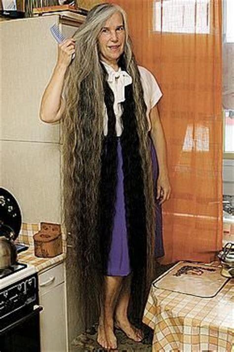 long greying hair    floor long grey silver