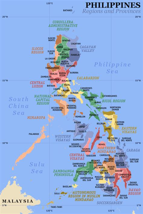 map of phillipines maps of the philippines regions and provinces