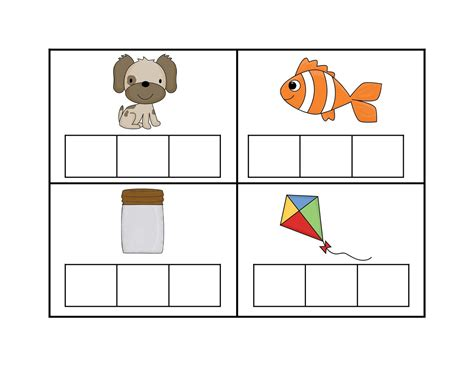 Elkonin Boxes Worksheets by Elkonin Boxes Template Images Templates Design Ideas