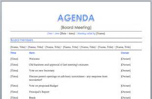 board meeting agenda template free images