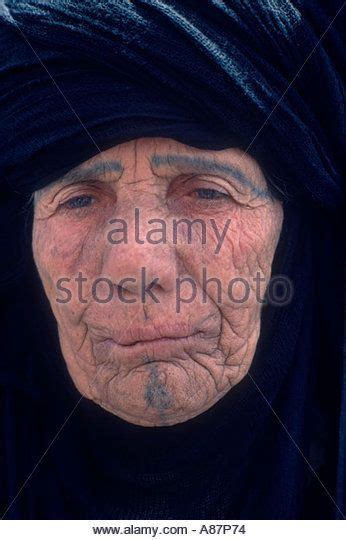 muslim face tattoo marsh arabs a portrait of an old woman with face tattoos