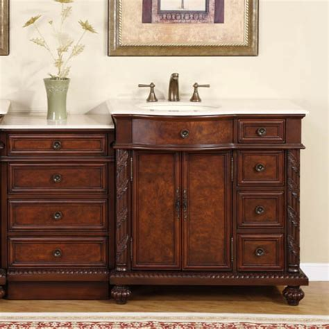 55 inch traditional single bathroom vanity with