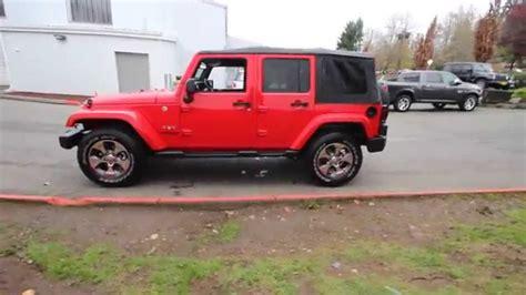 firecracker red jeep 2016 jeep wrangler unlimited sahara firecracker red
